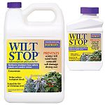 Wilt Stop creates a film which protects plants from drying out, drought, wind burn, sunscald, winter kill, transplant shock and salt damage. WILT STOP also extends life of cut flowers and Christmas trees.