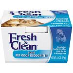 Solid pet odor deodorizer. Deodorizes smelly pet odors from the air as it evaporates. 6 oz.