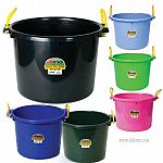 The 70 Quart Muck Tub by Miller Manufacturing has a variety of uses around your garden, home or barn. Tub may be used with the muck tub cart for easy transportation. Sold in a variety of fun colors. Tub holds approx. 70 quarts.