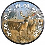 More accustomed to hanging around the White House or Smithsonian, the Hautman Brothers' artwork can now hang around your home or office thanks to a series of 12 1/2 inch thermometers. Deer Thermometer.