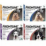 Waterproof, fast-acting and effective, the FRONTLINE Plus flea and tick treatment for dogs kills all present fleas and ticks quickly. Works great to control infestation on your dog or in your home. One treatment lasts approximately one month.