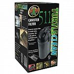 External canister filter for turtle tanks, vivarium, box turtle pools or turtletubs up to 60 gallons. New double-filtering system with internal biological recirculation. Turtle clean provides greater aeration with the included spray bar.