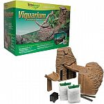 Viquarium - The best of both worlds - Land and Water. Provides mechanical and biological filtration. Sloped wall offers critters an easy access to / from land and water areas. To be used in most 20 to 55 gallon aquariums