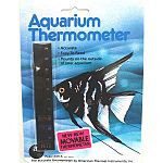 An easy to read, accurate, safe and non-toxic thermometer. It mounts vertically on the outside of your aquarium for easy viewing of temperatures. It can be repositioned too.  Large version.