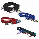 Single Thick 2 and 4 feet dog leashes in a multitude of colors. For walking your dog close to you. Made from premium quality nylon. One end has a stitched hand loop and the opposite end has an extra-heavy snap for added strength.