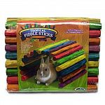 Tropical Fiddle Sticks by Super Pet are designed to encourage playtime for your small pet. These fun sticks can be twisted and bent into a wide range of shapes that make a unique hide-out. Rainbow colored wood sticks are hold together with wire.
