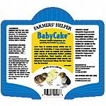 Used together with your current daily chick starter. Provides behavioral stimulation, optimized nutrition, and minimizes maintainence. Farmers' Helper BabyCake Supplement is designed to provide behavioralenrichment.