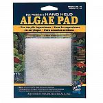 Quickly removes unsightly algae from acrylic aquariums. Hand held control to clean all areas. Durable scrubbing pad. If aquarium gravel is picked up on pad, rinse before use. Gravel will scratch acrylic surfaces. Do not use extreme pressure.
