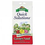 Great for a large variety of flowering plants and vegetables, Espoma's Quick Solutions Garden Food provides your plants with the three essential nutrients needed for healthy growth and development. Non-toxic formula works quickly.