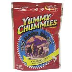 Yummy Chummies Salmon Dog Treat - Soft N' Chewy - Dogs go absolutely crazy for these salmon treats and your dog will too! We guarantee that your pet will love Yummy Chummies. Manufactured in Alaska, using Alaskan Salmon.