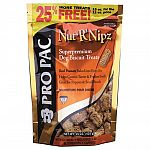Pro pac Nut R Nips are the perfect way to reward your dog while providing a delicious supplement to his diet. Formulated to compliment pro pac superpremium dog food. Nut r nipz have savory peanuty flavor blended with oatmeal, apples, and blueberries.