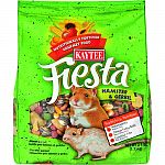 Kaytee fiesta is the leading fortified gourmet food for hamsters and gerbils. They love the crunchy morsels and it is filled with the proper nutrition for your little furry pets.