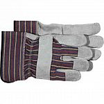 These leather and cotton gloves are great for protecting little hands from cuts and scrapes when working hard in the yard. Gloves feature leather palms, wing thumb, and fingertips. Easy to put on and take off. Available in one size.