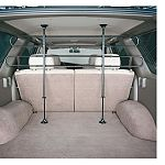 Unique design allows for horizontal and vertical adjustments. Midwest Home for Pets offers an automotive Tubular Barrier to keep your pet in the rear of your vehicle. Installs in Just Minutes. Expandable From 34