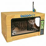 Can you say 'Cute and Useful' - this unique cat scratcher is shaped like a TV and your cat can scratch it or rest inside.
