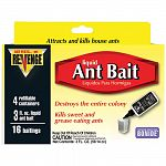 Attracts and kills sweet and grease eating ants. Contains 3 fluid ounces of 5.4% boric acid, and 4 refillable bait stations. Designed for indoor use to control common household ant problems. Each kit makes more than 16 baitings.