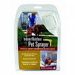 Connect the indoor/outdoor pet sprayer 8 foot hose to your faucet, spigot or garden hose. Press grooming sprayer lever to start water flow. Deep, penetrating sprayer jets will throughly clean your pet. Design guarantees the dog shower hose will stay put a