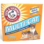 The more cats you have, the more you need the extra-strengthodor-blocking protection of arm & hammer multi-cat strength. Multi-cats activated baking soda crystals absorb even the toughest odors. Most advanced clumping technology makes scooping a snap. U