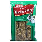 Timothy Hay Cubes by Kaytee is formulated to aid your rabbit's digestion by adding the natural fiber found in hay. Hay is compressed into blocks and sun-cured for a tasty, nutritious treat that is lower in calcium. Size is one pound.