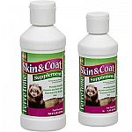 Ferretone Skin and Coat Liquid for Ferrets is essential for maintaining a shiny and healthy ferret coat. Provides your ferret with additional fatty acids and vitamins that help to develop healthy ferret skin and coat. Available in an 8 oz. or 16 oz.