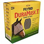 Duramask Fly Mask for Horses repels pests such as flies and insects that irritate or bite your horse. Helps to keep your horse comfortable and provides him with clear vision. It has a double locking fastener that stays under the jaw and is out of view.