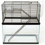 Add this High Rise Topper to your small animal's tank to add more living space. Topper gives your pet a great view and more room to move around. Made of metal and designed to be chew proof. Ideal for 10 gallon aquarium tanks.
