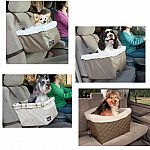 Provides a comfy ride for your favorite four-legged passenger. Design supports the seat from below, providing an unobstructed view and more comfortable ride for pets. Installs securely in one minute and even works in the backseat - requires headrests. Rec