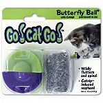 Your cat will find the butterfly balls wonderfully erratic wobbling, spinning and fluttering irresistable. Simply fill the ball with catnip and watch your cat have fun for hours. Catnip net weight .15 oz