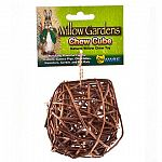 Made from 100% natural willow branches Best wood chew material for small animals The Chew Cube is a willow branch chew toy offering a wholesome snack and a tooth trimming treat. Critters can ring the dinner bell as they chew the Chew Cube!