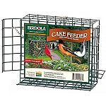 Patented fold-down perches. Hanging chain hold access door closed. Sturdy plastic-coated wire gives years of use. Expands the variety of birds you can attract, because many birds require a perch to feed.