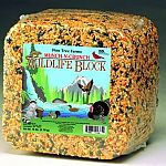 The Wild Life Block for squirrels and other types of wildlife animals comes in a 15 lbs. block size and is great for providing food to the wild animals in your yard. Loaded with protein, so it gives them a high energy level and tastes great too!