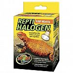 Provides 15% more light heat and uva for reptiles.  Another first from Zoo Med! High quality halogen spot lamps specifically made for use with reptile terrariums!