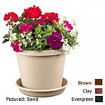 The essential plastic pot and saucer for any flower or house plant. Multiple Sizes and Colors. Durable, lasting finish and weather resistant. Saucer collects water drainage. Pots and saucers are sold separately in cases as described.