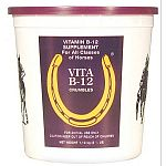 Vita B-12 Crumbles for Horses is a high quality feed supplement that enhances your horse's health. Great for all classes of horses. High in the vitamin B-12, it contains 50,000 mcg. per pound. For use on animals only. Available in 2.5 or 20 lbs.
