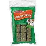 Kaytee Alfalfa Cubes are tightly compressed blocks of nutritious sun-cured alfalfa that are ideal as natural food treats for small animals. Natural sun-cured alfalfa
