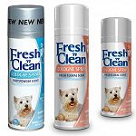 To help curtail pet odor between baths, use Fresh 'n Clean® Cologne Spray to help keep pets smelling fresh and clean. Avoid spraying in eyes. Do not apply to broken or irritated skin.