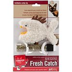 Cute catnip fish your cat will love. Refillable pouch keeps catnip fun and fresh. Includes pure bliss organic catnip. Dimensions: 4