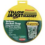 Victor Trap attracts yellow jackets. Easy to use, open bait, add water and hang. Includes #1 bait on the market. Decorative maple leaf print on bag helps trap blend in with surroundings