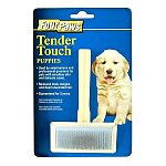 Tender Touch Slicker Wire Brush removes mats, tangles and dead unwanted hair from your pet's coat. Soft rubber backing allows gentle handling. This brush should be a staple in your grooming tool collection. Polished wooden handle for comfortabl