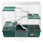 Multilevel Home for Exotic Pets is made especially for exotic animals such as chinchillas, degus, pet rats and other types of unusual pets. This roomy home keeps your pet comfortable and has 1/2 inch wire spacing to keep your pet safe.