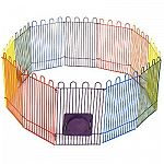 The crittertrail playpen by Super Pet is a play area designed especially for small pets. Features twelve colorful wire panels that can create a variety of fun shapes and also includes optional passages for hiding and running in.