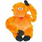Big dogs love this colossal orange gorilla by GCI. Made of soft and fuzzy plush fabric and has three squeakers. Great of hours of fun making noise or hanging with your canine buddy. The bright orange color is fun and cheerful and makes a nice gift.