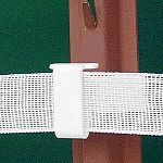 U-post tape insulator white, f5ts 1 3/4  & 2 1/8 u -post. Fencing. Plastic.