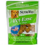 Calming Dog Treats.  Pet-Ease Soft Chews for Dogs are tasty, soft treats that are formulated to help ease your pet's stress and anxiety when traveling, grooming and during periods of separation. Chews help to reduce destructive behavior caused by stress