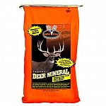 Contains 27 different antler building minerals, vitamins and additives. Includes a special yeast culture, helping deer become more efficient when eating and digesting their food. Comprised of highly digestible chelated minerals. Greatest consumption will