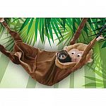 This monkey allows ferrets to nestle right in for a nap or play a game of peek-a-boo. Theres room enough for two or three ferrets to have a swingin good time. Clips easily to most cages. Washable fleece.