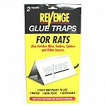 For rats, also catches mice, snakes, spiders, and other insects. Easy and ready to use. Baited. Non toxic. Disposable. Two pack.