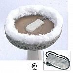 Your backyard birds will thank you for using this birdbath ice eliminator. Designed for use in a variety of birdbaths. Thermostat helps to control the temperature and ice eliminator is economical and energy efficient.