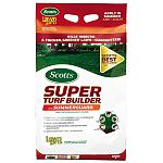 When Scotts Lawn Pro Super Turf Builder With SummerGuard is used with a regular watering program, it strengthens and protects your lawn against the thinning, browning and insect vulnerability that can befall hot-weather lawns.