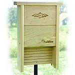 The Audubon Bat Shelter is handcrafted of natural cedar. Bats use their sonar to catch up to 3,000 insects each night. Provides capacity for up to 20 bats.